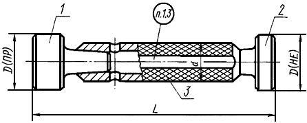 Калибр-пробка гладкая двусторонняя 28мм гост 14810-69 | метрология.